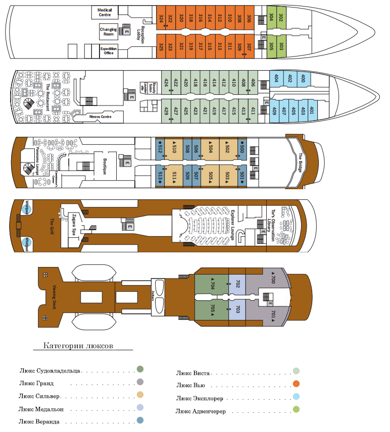 Deck plan Silver Explorer